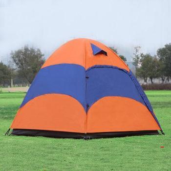 盛源户外帐篷双层3-4人防晒防暴雨压胶帐篷露营多人野营帐篷SY031