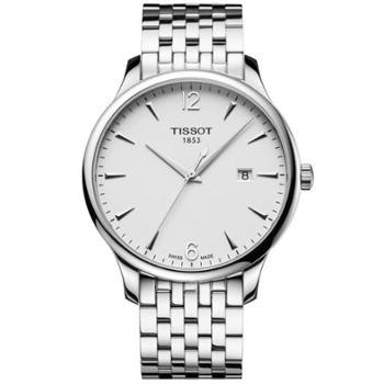 天梭TISSOT-俊雅系列石英男表T063.610.11.037.00瑞士手表进口腕表全球联保2年