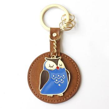 UPICK原品生活 猫头鹰皮革钥匙扣 创意情侣可爱车钥匙扣