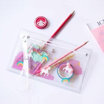 UPICK原品生活PVC透明插画手拿包化妆包