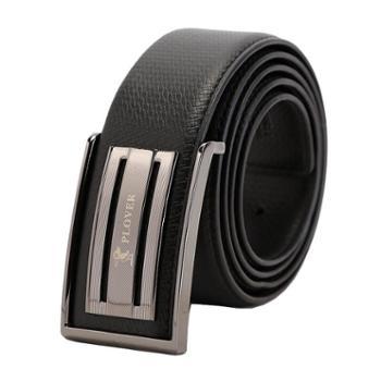 啄木鸟 高级 牛皮 皮带 腰带 板扣型 GDP-160505A 黑色