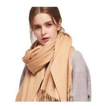 绒之尚语羊毛粗纺大规格女士围巾披肩-11