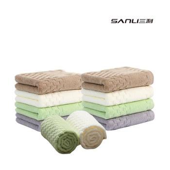 三利素雅纯棉面巾10条特惠装9154-10T