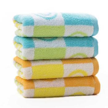 三利圈圈童巾4条混色装(2蓝2橙)