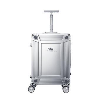 尼诺里拉 银色一体成型铝镁合金旅行箱拉杆行李NRB-18023-20寸银色