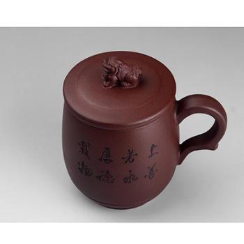 和记张生瑞兽吉祥 紫砂茶杯 宜兴 手工 紫砂杯 紫砂内胆 过滤 茶杯 礼盒包装