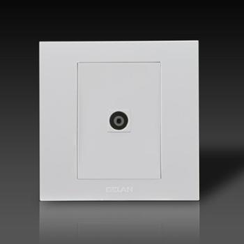 gelan开关插座面板G3-501电视终端插座(白色)