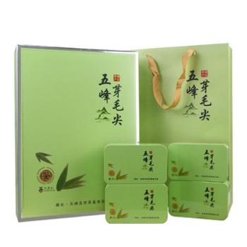 农夫乡情 宜昌五峰芽毛尖绿茶100g*4罐装礼盒装