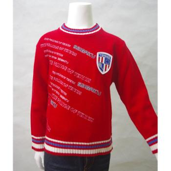 THEPRINCEOFTENNIS网球王子男童仿毛圆领针织衫红色WM464035