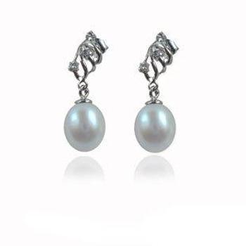 【玲珑】娇气俏妹子淡水珍珠925银耳坠HFY3-M玲珑珠宝