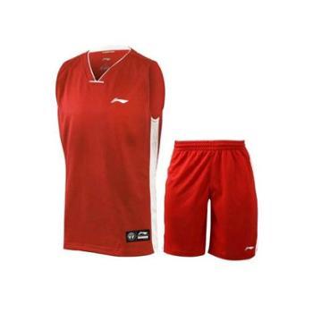 实体店2015冬新款正品李宁篮球服套装男子训练篮球比赛服AATK047-1-2-3