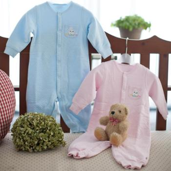 海绵泡泡 婴儿服装秋冬婴儿加厚内衣男女宝宝哈衣爬服长袖婴儿连体衣纯棉