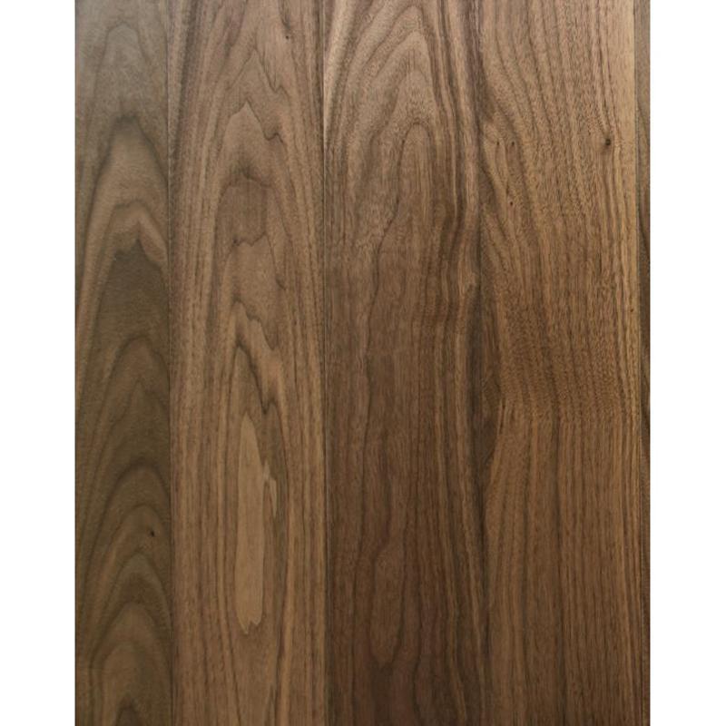 黑胡桃本色白色染边实木复合地板