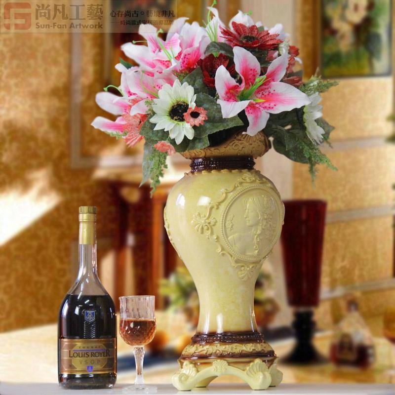 工艺品家居装饰品摆件客厅餐厅高档花卉摆设创意复古