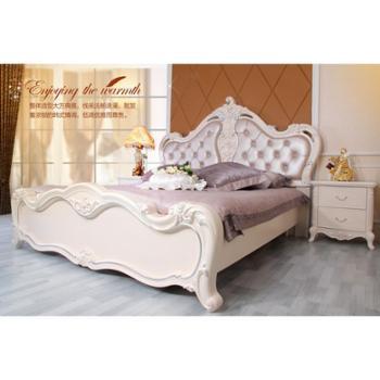 正品包邮新款韩式床实木床布艺床田园床1.8米双人床公主床家具组合套房