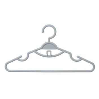 恒曼多功能日式素色成人晾晒衣架阳台宿舍家用防滑衣挂(10个一组)