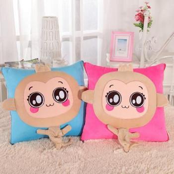 【四川刮刮乐】乔凡娜两用抱枕被子 新款卡通空调抱枕被儿童多功能可爱被子