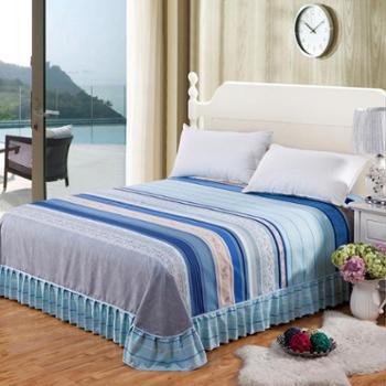 【四川刮刮乐】乔凡娜加厚床罩 床裙单件 席梦思保护套 单双人韩版花边床单