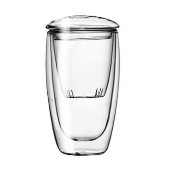 谁美双层茶水分离玻璃泡茶杯