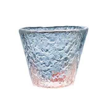 谁美玻璃品茗杯日式茶杯手工锤目纹
