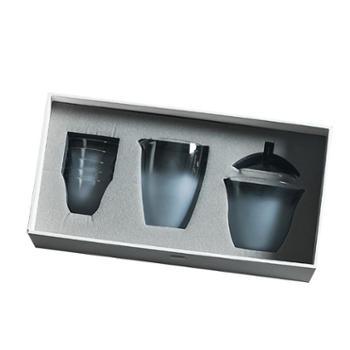 谁美日式云雾磨砂玻璃盖碗透明耐热玻璃盖碗大号茶具套装