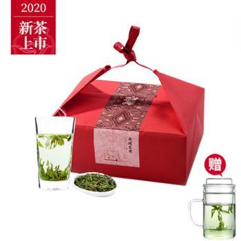 瓯叶绿茶2020年明前春茶西湖龙井100gx2袋礼盒装【赠绿茶杯】