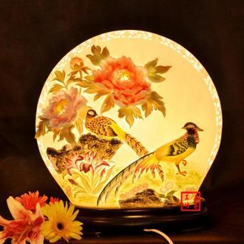 结婚礼物卧室陶瓷台灯工艺品摆件实用婚庆礼品家居创意装饰品MH016