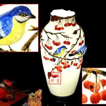 结婚礼物卧室陶瓷花瓶台灯创意时尚实用婚庆礼品家居装饰品摆件MH030