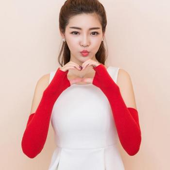 锦昂秋冬新款女士手套长手套套袖保暖加长手套SS001