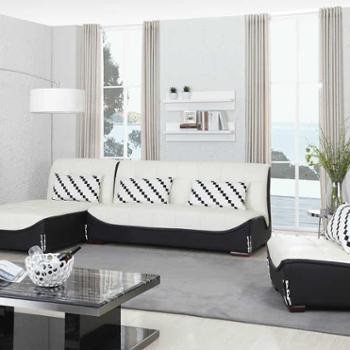 雅宝家具 DSP13-23真皮沙发 现代简约 中大户型客厅高档真皮沙发
