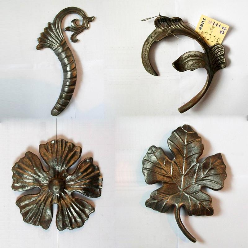 欧式 时尚铁艺装饰花叶