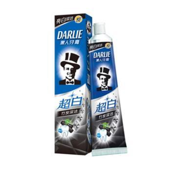 6支装黑人超白竹炭深洁牙膏含氟亮白牙齿去口臭黄清新口90g