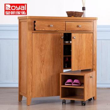 皇朝家私田园风格大容量现代简约简易收纳鞋柜支持三包到家