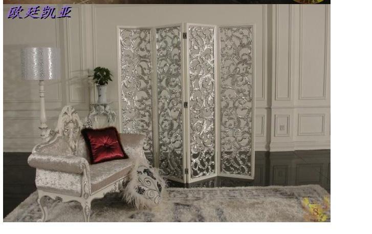 简实木欧式新古典家具屏风隔断美式屏风时尚屏风现代