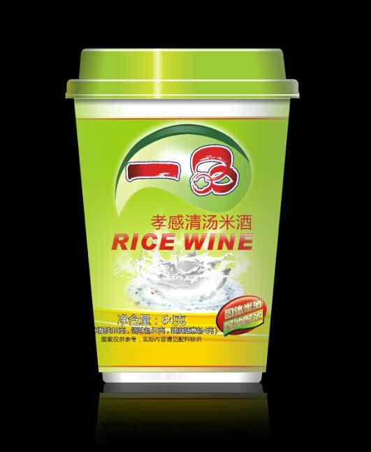 一品食品 孝感米酒 固體即沖即飲 清湯杯裝 /杯-64克