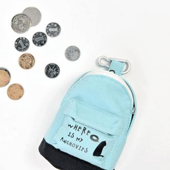 斯普维加创意零钱包书包零钱包学生韩版可爱零钱包