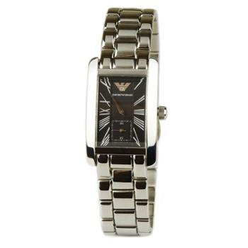 阿玛尼Armani手表石英表时尚腕表气质银色 AR0157女款