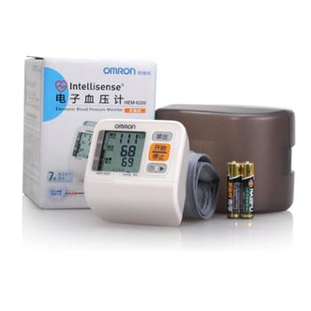 欧姆龙电子血压计HEM-6200 自动家用便携手腕式血压测量仪 血压计