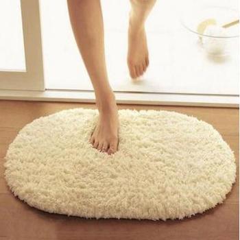 【新款包邮】加厚超柔北极绒地毯椭圆浴室吸水地垫厨房门垫卫生间脚垫地毯