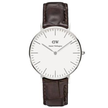 丹尼尔惠灵顿(Daniel Wellington)手表DW女表36mm银色边皮带超薄女士石英手表0610DW
