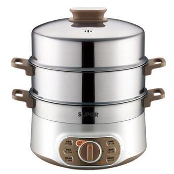 苏泊尔28YK807家用多功能电蒸锅不锈钢大容量双层电蒸笼双层电锅
