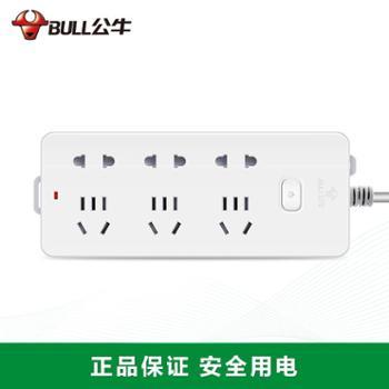 公牛插座插排GN402 电源插座插线板接线板 电源插板拖线板无线1.8米/3/米 正品公牛
