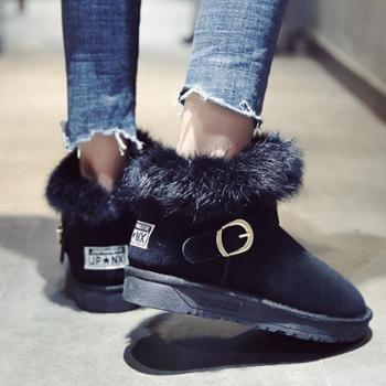 雪地靴女加棉保暖靴韩版百搭学生平底女鞋潮款