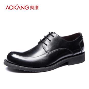 奥康男鞋 欧版商务大头皮鞋男牛皮时尚潮流英伦婚礼正装翘头男鞋