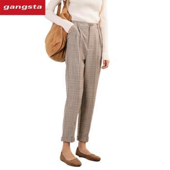 【gangsta】2018新款韩版女士休闲裤直筒裤【千盛百货】K188