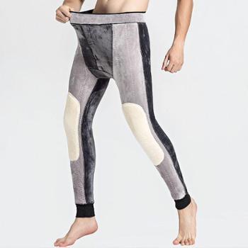 【亲春】东北特厚抗寒男士保暖裤 羊驼绒护膝护腰加绒加厚裤【千盛百货】B035