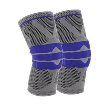 gangsta硅胶弹簧针织运动护膝跑步篮球登山运动护膝护具M8806