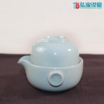 弘宝汝窑 粉青釉 水滴自由杯 礼盒包装