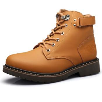 上匠风华 秋冬款户外工装休闲鞋 加绒保暖 耐磨厚底