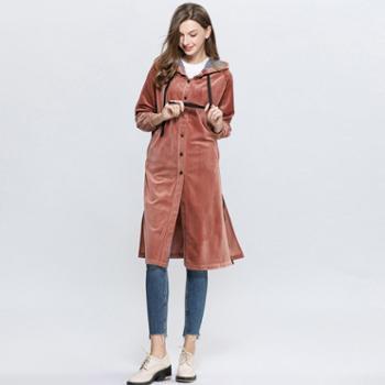 sandalling厚绒开衫女外套连衣裙6244